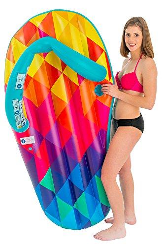 Didak Pool XL Flip Flop Luftmatratze 160 x 75 cm - Bunt - Lustige Schwimmliege für Pool Schwimmbad Urlaub Strand Meer