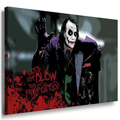 Lets not blow this up..Joker Leinwandbild / LaraArt Bilder / Mehrfarbig + Kunstdruck XXL f05 Wandbild 100 x 70 cm Blow Up Folie