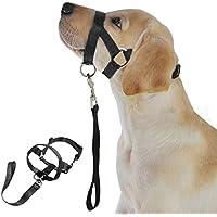 ALCYONEUS Weiches Nylon-Hundegeschirr für den Kopf, Training, Schlaufe um den Mund verhindert Beißen, Sicherheitsmaske