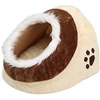 Yaheetech Katzenhöhle Hundehöhle Kuschelhöhle Katzenkorb Haustierbett mit weicher und angenehmer Kissenbezug