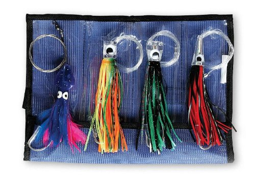 Williamson Master Kit (4 Pack) - 1 Dorado Jig 1 ( 1/2 oz + 1 Dorado Catcher + 1Sailfish Catcher + 1 Tuna Catcher Rigged Assorted) -