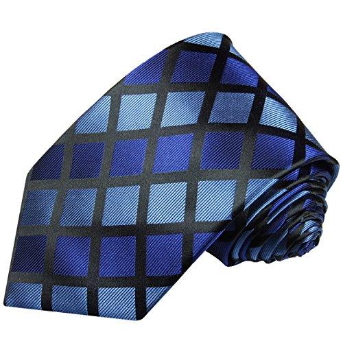 Cravate homme à carreaux bleu 100% cravate en soie ( longueur 165cm )