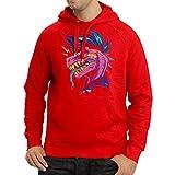 lepni.me Sweatshirt à Capuche Manches Longues Punk Rock - Punk n'est Pas Mort, années 1960, 1970, années 80 (Large Rouge Multicolore)