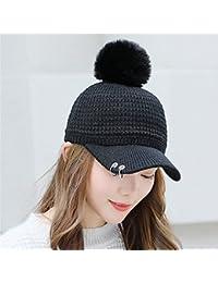 Cappello invernale femmina carina ragazza pelliccia di ferro berretto da  baseball maglia calda lana hat cap in autunno… 9596a37d1e05
