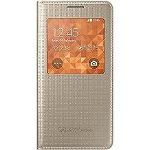 Samsung BT-EFCG850BF - Cubierta del tirón para Samsung G850F Galaxy Alfa, con ventana, color Dorado
