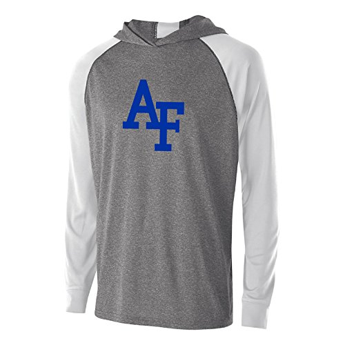 Ouray Sportswear NCAA Air Force Falcons Men's Echo Hoodie, Graphite/White, Medium -
