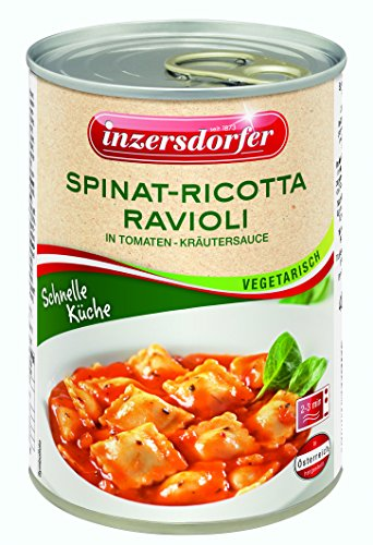 Inzersdorfer Spinat-Ricotta-Ravioli in Tomaten-Kräutersauce, 6er Pack (6 x 400 g)