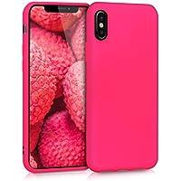 kwmobile Apple iPhone X Cover - Custodia per Apple iPhone X in Silicone TPU - Backcover Protezione Rosa Shocking