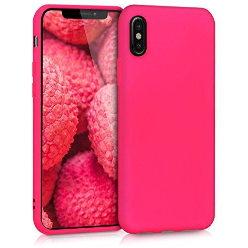 kwmobile Apple iPhone X Hülle - Handyhülle für Apple iPhone X - Handy Case in Neon Pink