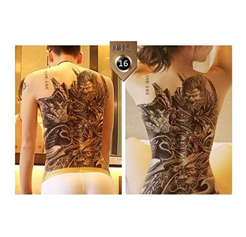 Drthukg adesivo tatuaggio 48 * 35cm grandi geisha tatuaggi uomo donna impermeabile adesivi per tatuaggi temporanei grande con schiena piena tatuaggio drago b