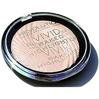 Maquillaje Revolution Vivid Baked, iluminador Peach Lights, 8g