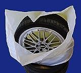 Reifentaschen Set 4-teilig passend für alle Reifentypen bis 22 Zoll - Reifentüten - Reifensäcke - Reifen Schutz - Reifensack - Reifenschutzhülle - biologisch Abbaubar
