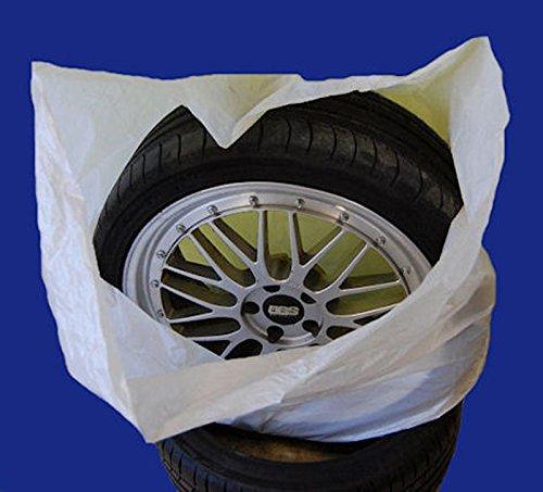 SW-Trade Germany Reifentaschen Set 4-teilig passend für alle Reifentypen bis 22 Zoll Reifentüten Reifensäcke Reifen Schutz Reifensack Reifenschutzhülle biologisch Abbaubar