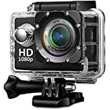 Mappo Full HD Waterproof 1080p Sport Action Camera With Micro SD Card Slot, Multi-Language, 32GB Storage, 2 Inch LCD Display, Waterproof Case (Assorted Colour)