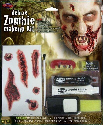 7-tlg. Zombie Schmink Set für Halloween & Karneval