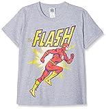 DC Comics Jungen T-Shirt Kids Originals Flash Running, Grey (Grey Grey), 9-10 Jahre