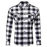 Dehots Herren Hemd Kariert Langarm Karohemd Freizeit Trachtenhemd Slim Fit Für Männer Business Hemden Shirt Herbst Winter, # 03, S