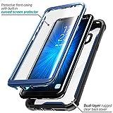 Samsung Galaxy S8 Plus Hülle i-Blason Ares Handyhülle 360 Grad Case Robust Schutzhülle Transparent Cover mit eingebautem Displayschutz für Galaxy S8 + Plus, Blau
