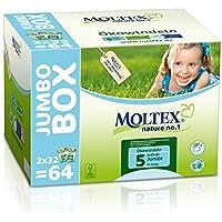 Moltex Nature No. 1 Ökowindeln, Jumbopack, Größe 5 (Junior), 11-25 kg, (1 x 64 Windeln)