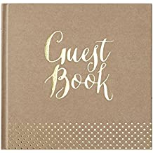 Ginger Ray, libro degli ospiti per matrimonio, colore: carta da pacchi e foglia oro, collezione Kraft Perfection
