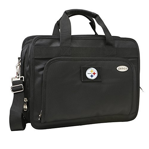 nfl-pittsburgh-steelers-expandable-laptop-briefcase-13-inch-black-by-denco