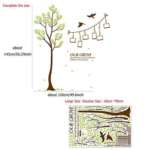LETAMG Stickers Muraux Arbre De Famille Bricolage Cadre Photo Stickers Muraux PVC Art Stickers Murale Home Decor Salon Chambre Décorations Autocollant
