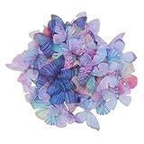 SUPVOX 20 piezas con mariposas Mariposa colorida Mariposa Tela...
