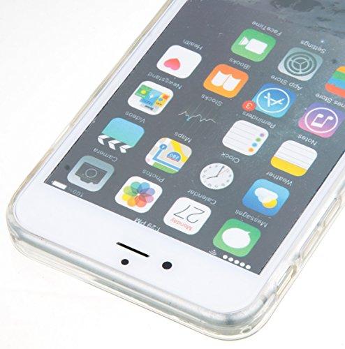 Roreikes Apple iphone 6 Plus Coque, iphone 6S Plus Case (5.5 Pouces), étui souple transparent Cool 3D Flottant sables mouvants Étoile Bling Luxe Étincelle Design Cas Crystal Star douce couverture arri 2#