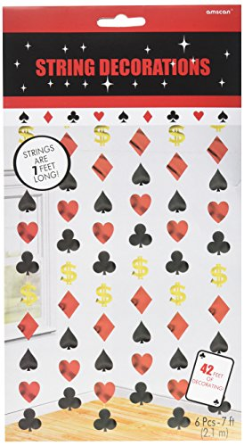 Amscan Hängegirlanden Casino, 6 Stück