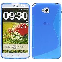 S Line TPU–Carcasa para LG G Pro Lite Dual SIM D686funda de silicona en azul @ Energmix
