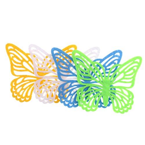 Schmetterlings-tisch-set (SM SunniMix Glasuntersetzer Aus Vliesstoff, Getränke Untersetzer Für Tassen, Tisch, Bar, Glas, Gläser, 4er Set Schmetterling Untersetzer)