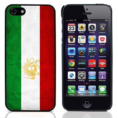 Graphic4You Vintage Uralt Flagge Von Palästina Palästinenser Design Harte Hülle Case Tasche Schutzhülle für Apple iPhone 5 und 5S Iran Iraner