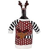 Navidad Navidad Weihnachtsmann renos rojos Botella de vino, champán bolsillos para casa fiesta decoración Oferta