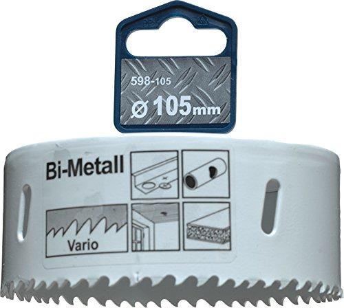 kwb Ø 105 mm Lochsäge HSS-Bi-Metall 598105 (Vario-Zahnung, 8% Cobalt, hohe Rundlaufgenauigkeit)