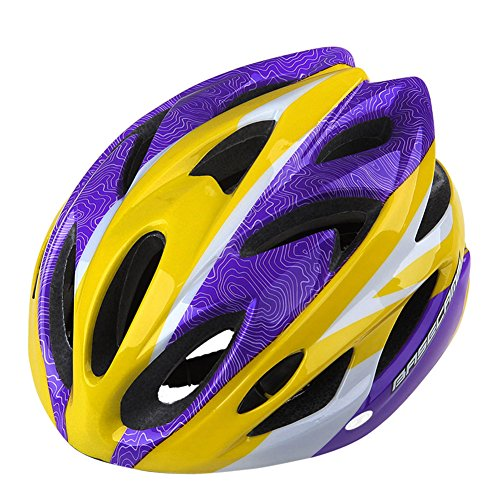 GranVela-BC012-Casco-de-ciclismo-ligero-Colorful-carreteramontaa-casco-adultos-tamao-ajustable-YellowPurple