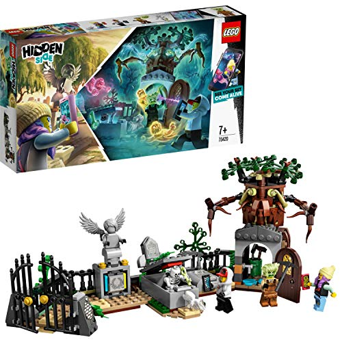 LEGO Hidden Side 70420 Graveyard Mystery Construction Set, AR Lego Games with Lego app, Toys for 7 Years Old Boys and Girls, Interactive Augmented Reality Ghost Playset with 4 minifigures Best Price and Cheapest