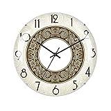 Orologio da parete in stile nordico, orologio da parete creativo senza montatura in vetro stereoscopico Soggiorno camera da letto Orologio silenzioso Decorazione a grana tonda Orologio al quarzo,20CM
