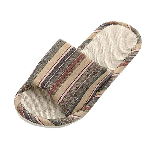 Haus Katze Muster Leinen Flip Flops Indoor Slipper Schuhe Hausschuhe Weiblichen Dicken Boden Rutschfeste Paare Sandalen Japanische Hausschuhe ()