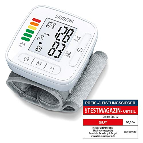 elenk-Blutdruckmessgerät (vollautomatische Blutdruck- und Pulsmessung, Warnfunktion bei möglichen Herzrhythmusstörungen) ()
