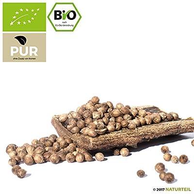 NATURTEIL – BIO Koriander Samen - Ganze Körner - 100g - Gewürz, Vegan, frei von Zusätzen   Organic Coriander Seeds Whole von Naturteil bei Gewürze Shop