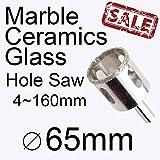 65mm 2.559in marmo sega piastrelle di vetro sega a tazza in ceramica sega per il Power Tools trapano muratura Buy 3more favorable