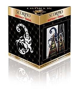 Scorpio Coffret 2 Produits Instinct Tribal Eau de Toilette Flacon de 75 ml + Déodorant Atomiseur 150 ml