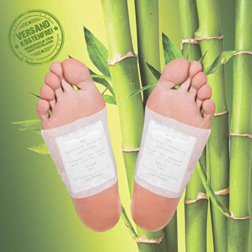 MR Goods® Bambus Fußpflaster zur nächtlichen Anwendung- 10 Vitalpflaster Foot Pads für 5 Nächte mit Bambuspflaster für Ihre Wellness - Das Foot Pads Erfolgsprodukt zur Erholung und Entspannung -