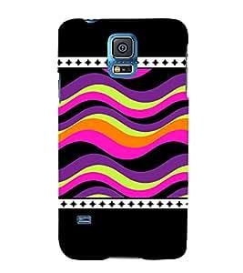 Wave Pattern 3D Hard Polycarbonate Designer Back Case Cover for Samsung Galaxy S5 Mini :: Samsung Galaxy S5 Mini G800F
