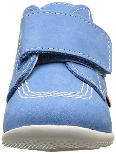 Kickers Bilou, Chaussures Bébé marche mixte bébé Bleu (Bleu Clair)