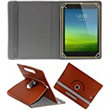ACM Rotating Leather Flip Case for Xiaomi Mi-Pad 8 Tablet Cover Stand Brown