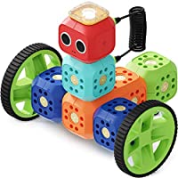 Robo Wunderkind Robotics Kit - Build and Code Your Own Robots - STEM Toy for Kids 5-10 - Lego Compatible - 2 Free Apps with Creative Coding Projects
