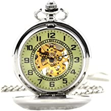 Infinite U Esqueleto Hueco Diseño Floral Flor Colgante Collar Cuerda Manual Reloj de Bolsillo Mecánico