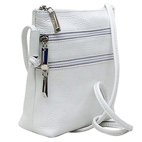 Chapeau-tendance - Petit sac bandouliere cuir blanc - - Femme