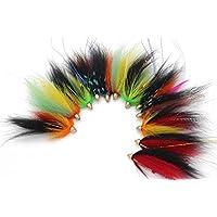 Tigofly 12 pcs Cone Head Tube Fly For Salmon Trout Steelhead Fly Fishing Flies Lures Set
